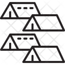 Refugee Tent Camp Icon