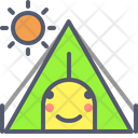 Tent Day Day Sun Icon