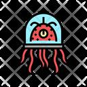 Tentacles Creature Spaceship Icon