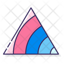 Ternary Contour Plot Planning Stats Pyramid Icon