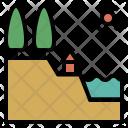 Terrain Elevation Identity Icon