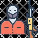 Terrorism Panic Consternation Icon