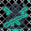 Terrorism Intruder Guerrilla Icon