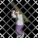 Terrorist Running Icon