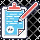 Exam Sheet Test Paper Test Sheet Icon