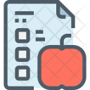 Test Paper Education Icon