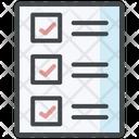 Test Case Checklist List Icon