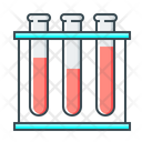 Test Tubes Blood Infected Icon