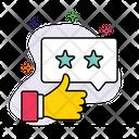 Positive Interaction Appreciation Customer Rating Icon
