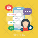 Testimonial Marketing Concept Icon