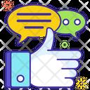Customer Feedback Testimonial Review Icon