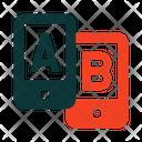 Testing A B Testing Smartphones Icon