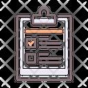 Testing Clip Board Checklist Icon