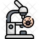 Microscope Lab Virus Icon