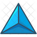 Tetrahedron Shape Design Icon