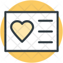 Text Sheet Heart Icon