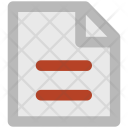Text Sheet Document Icon