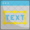 Text Graphic Design Icon