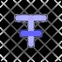Text Arrangement Style Icon
