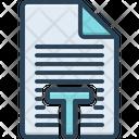 Text Script Font Icon