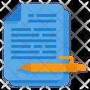 Text Writing Author Icon