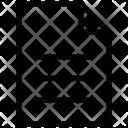 Text Writing Pad Icon