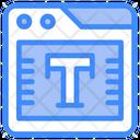 Text Editor Type Icon