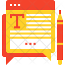 Text Article Blog Icon