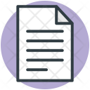 Text Sheet Word Icon