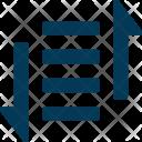 Text Align Line Icon