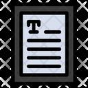 Text Book Icon