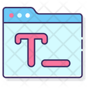 Text Editor Text Text Editor Tool Icon
