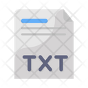 Text File File Format Document Icon