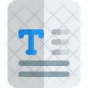 Text File Text Sheet Icon