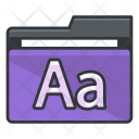 Text Folder Collection Icon