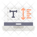 Text Height Height Website Icon