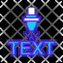 Text Laser Cutting Text Cutting Laser Cutting Icon