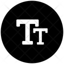 Text Size Uppercase Alphabet Icon
