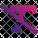 Textslash Icon