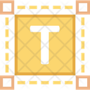 Text Tool T Square Text Format Icon