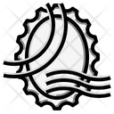 Stamp Oval Grunge Icon