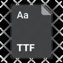 File Format Ttf Icon