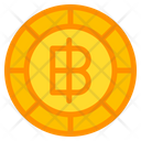Thai Baht Coin Currency Icon
