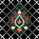 Thai Pattern Asian Decorative Icon