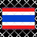 Thailand Flag Nation Icon