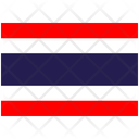 Flag Country Thailand Icon
