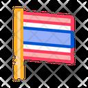 Thailand Flag Flagstaff Icon