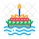 Boat Filled Flowers Icon