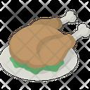 Chicken Dinner Platter Icon