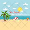 The Beach Summer Icon